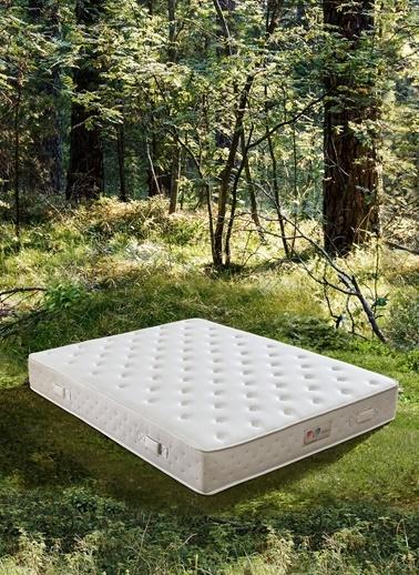 Hibboux 150x200 Botanic Pocket Yaylı Yatak Beyaz